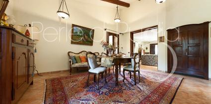 The interior furnishings of the villa are elegant and meticulously chosen