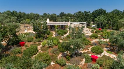 The lush garden that embellishes the property