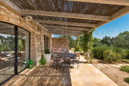 The beautiful shaded veranda