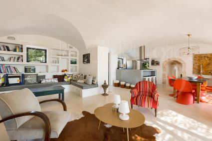 The open space with lounge, sitting area and American kitchen