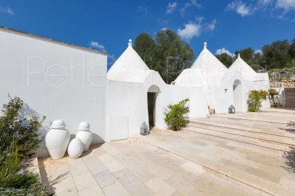 The complex of ancient rural dwellings formed by 3 trulli and a lamia