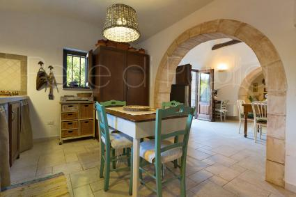 The kitchen of Trullo U Fragn near Alberobello