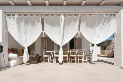 The first house with: a large veranda with a panoramic view