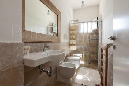 The bathroom with shower of the first house