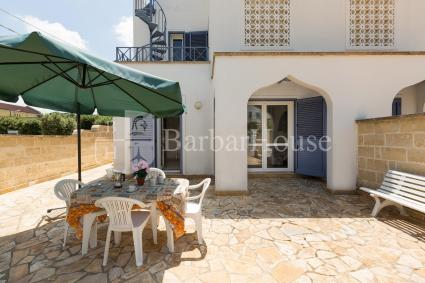 The outdoor area of the holiday home where the guests can relax