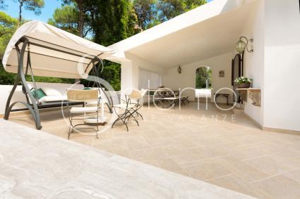 The verandah of the villa, where the guests can relax