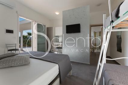 L`appartamento ospita fino a 4 persone in vacanza nel Salento