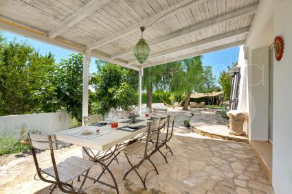 Dining area under the porch