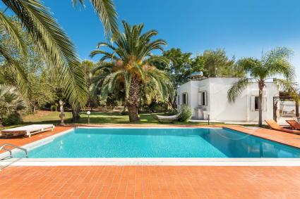 A 15.000-square-meter estate and the large infinity pool.